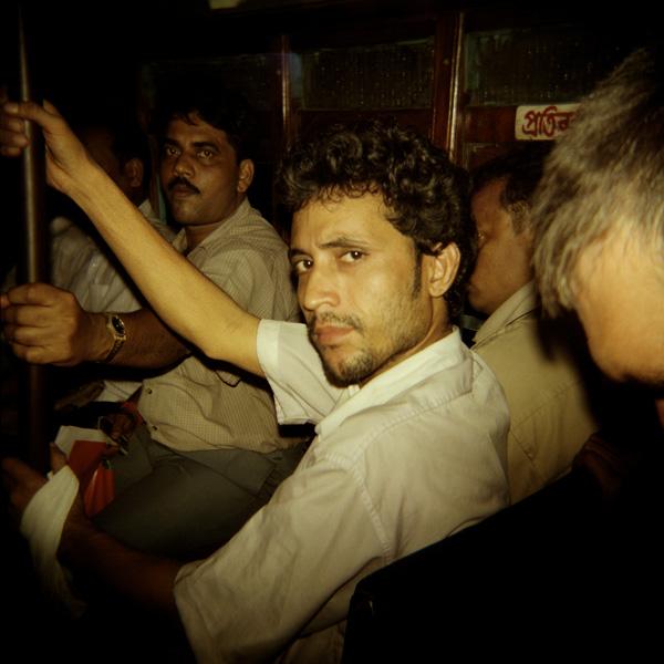 02-INDIA.Calcutta (West Bengala), interno di autobus pubblico